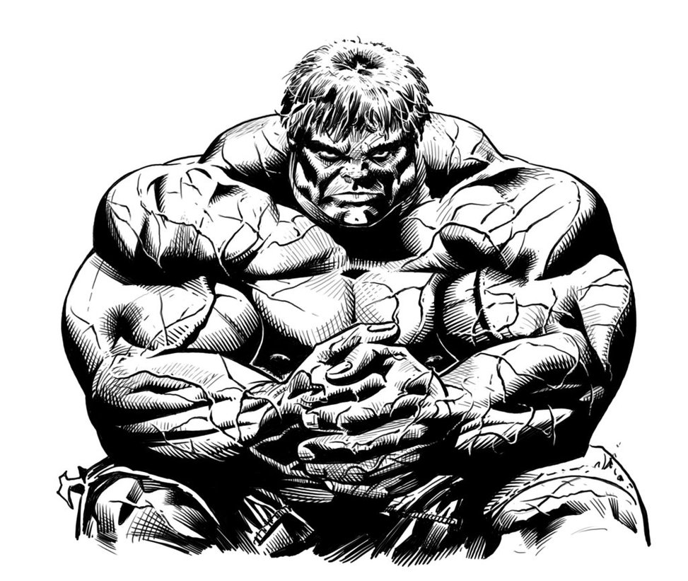 973x821 Awesome 3d Hulk Face Tattoo Design For Sleeve By Kirt Silver