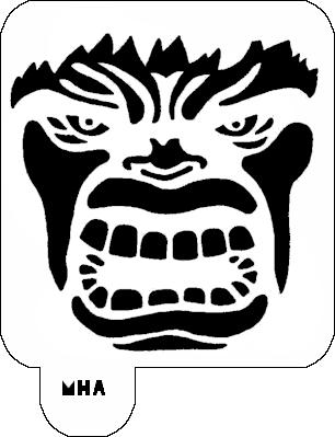 306x399 Mr. Hair Art Stencil