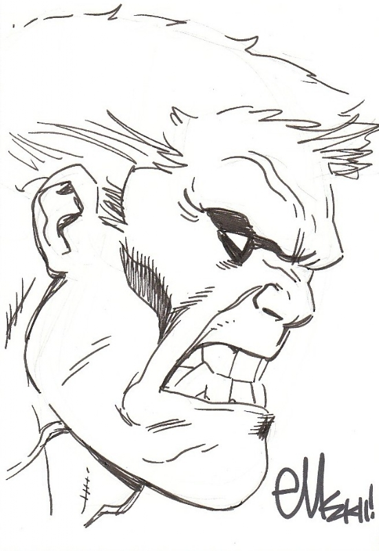 551x800 Red Hulk Sketch By Ed Mcguinness, In Aj Hammer's The Rulk Museum