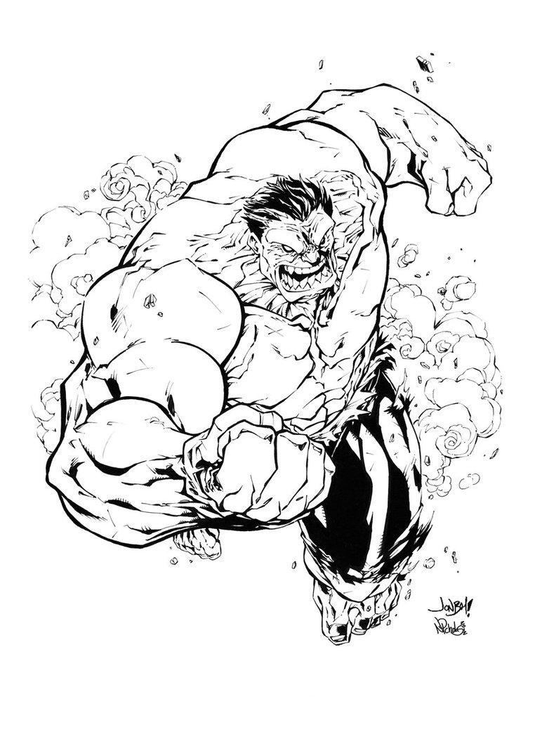 762x1049 Red Hulk Inked By Nicholasgentile