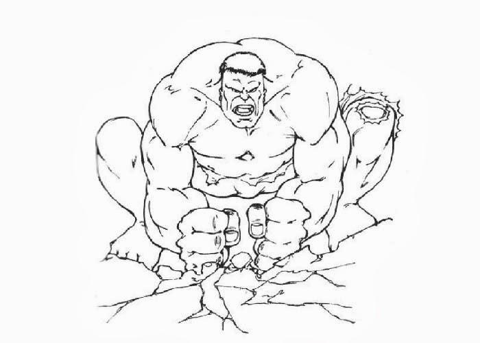 700x500 Smash Coloring Pages Hulk