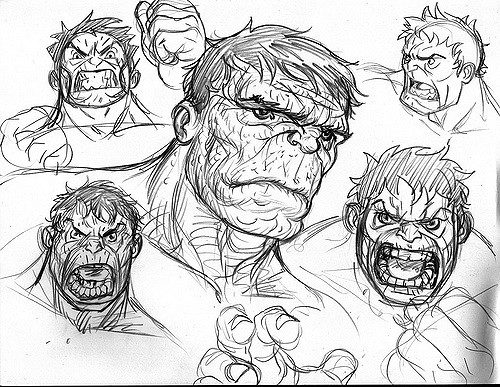 Hulk Face Drawing At Getdrawings Com Free For Personal Use