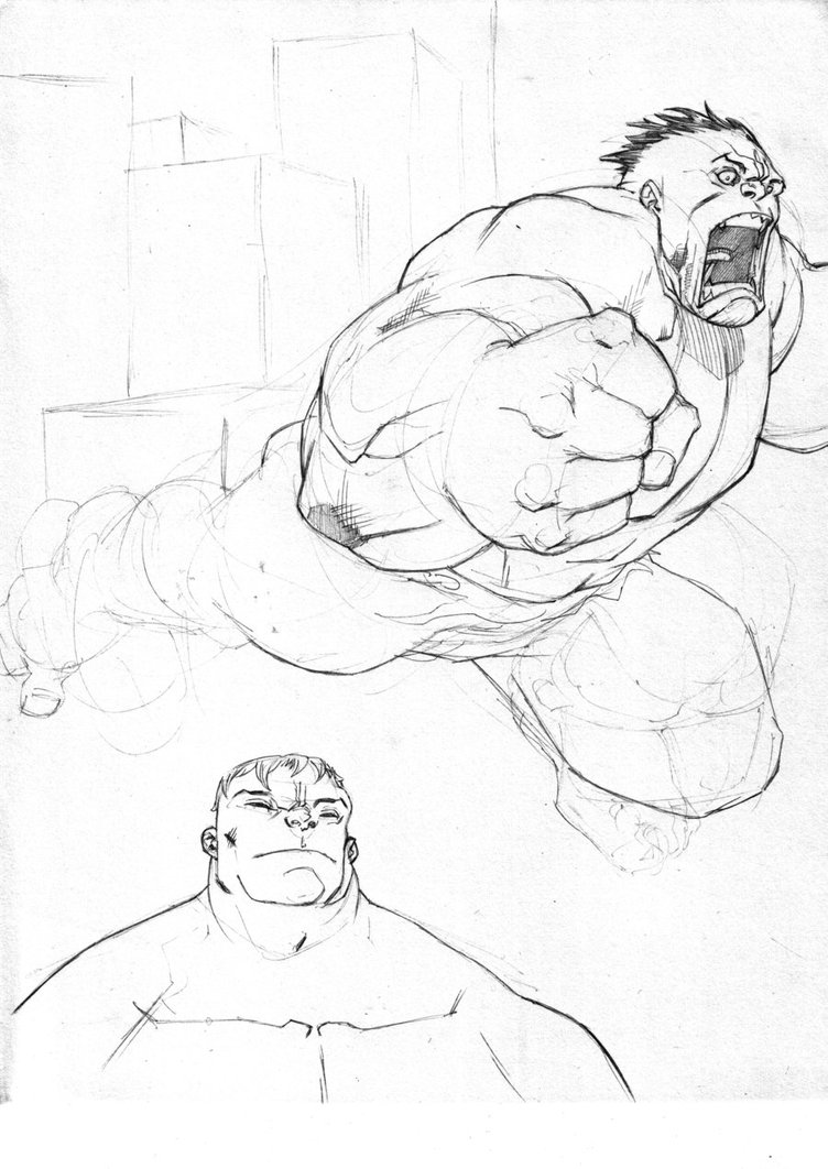 752x1062 Hulk Sketch By Theadriannelson