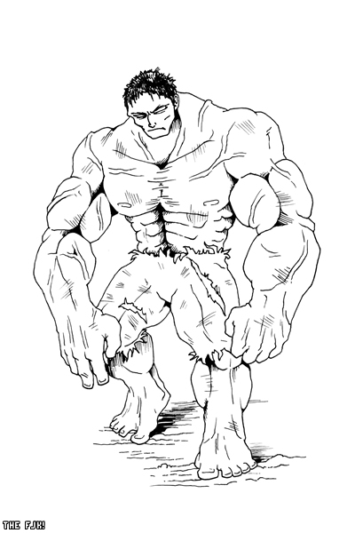 400x600 Classy Design Hulk Outline The By Thefjk On Drawing