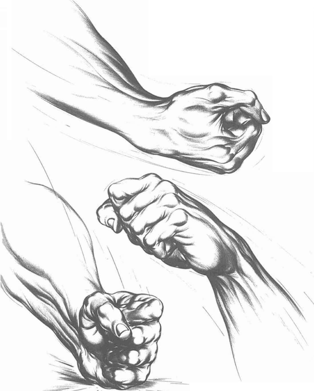 1098x1365 Drawing Of A Fist The Clenched Fist