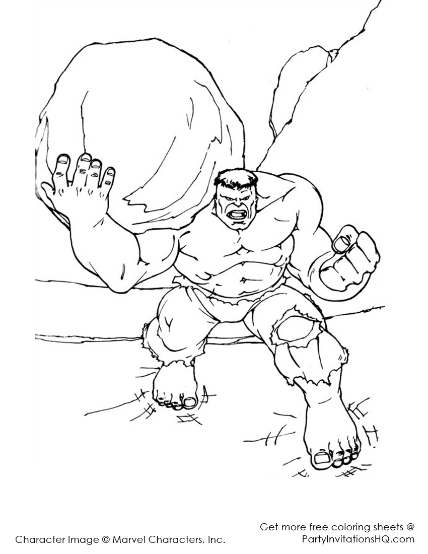 850x1100 Generous Incredible Hulk Coloring Pages To Print Gallery