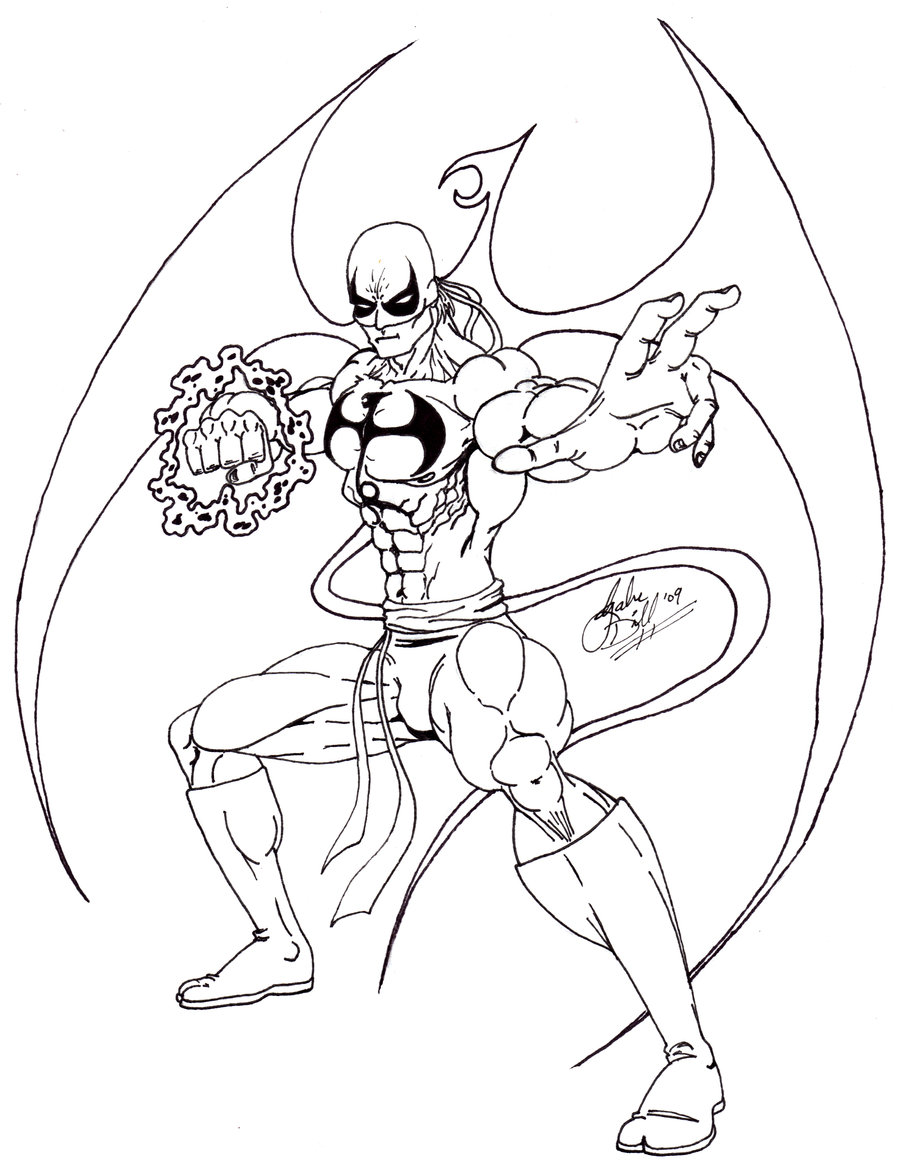 563x732 Iron Fist Coloring Page 900x1176 Fanart Sketch By Gwdill On DeviantArt