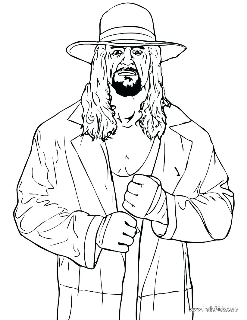 820x1060 Coloring Hulk Hogan Coloring Pages Wrestler The Undertaker