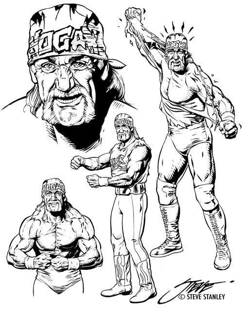 504x652 Garbage Tumblr Wcwworldwide Hulk Hogan Lineart By Steve
