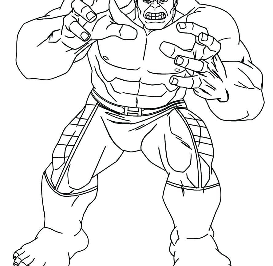 888x864 Hulk Coloring Page And Hulk Coloring Pages Hulk Hogan Coloring