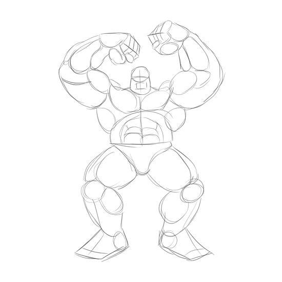 Hulk Logo Drawing
