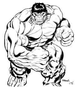 247x279 Drawn Hulk Sketch