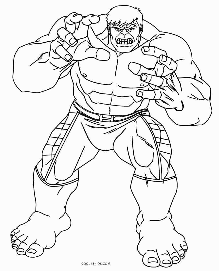 888x1094 Free Printable Hulk Coloring Pages For Kids Cool2bkids