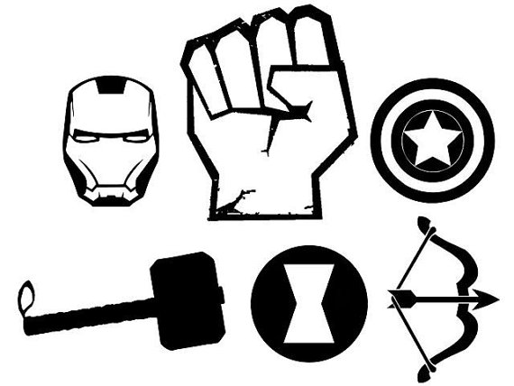 570x428 Avengers Teamindividual Character Vinyl Decals. 6 Year Life. Thor