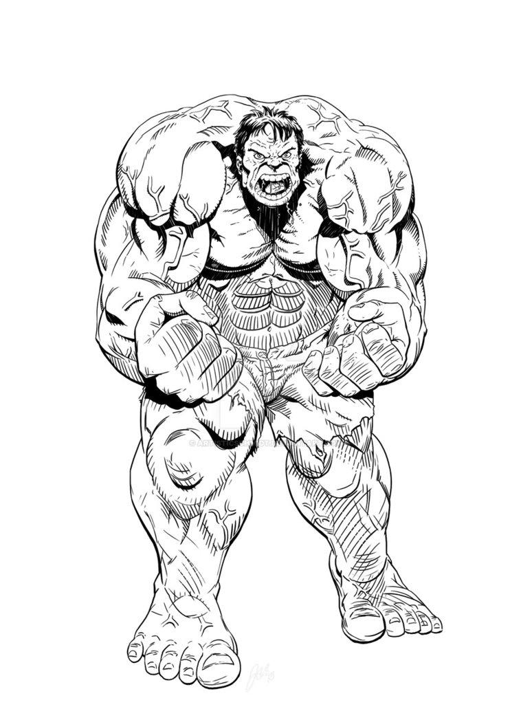 774x1031 Hulk Drawing By Artisticschmidt