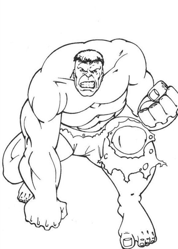 580x809 Hulk Preparing A Punch Hulk Coloring Pages Hulk