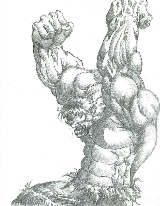 562x720 Hulk Sketch Geekery Sketches, Comic And Marvel