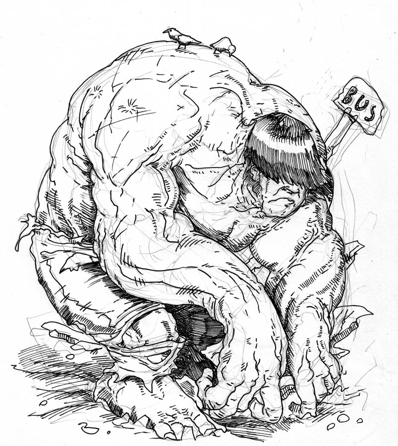 804x902 Drawn Hulk Outline