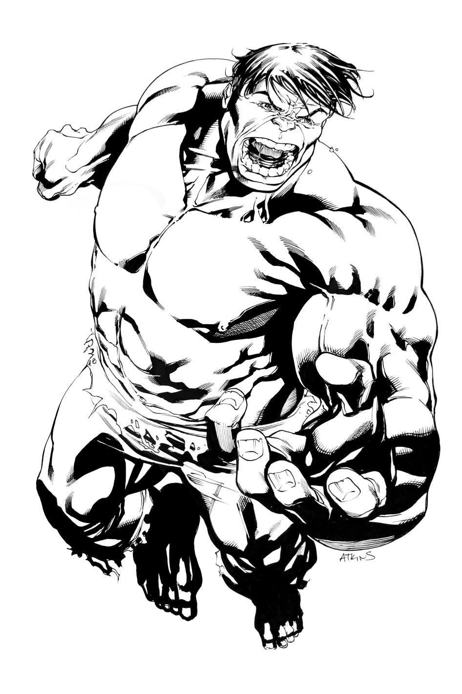 946x1421 Hulk Smash .again! Robert Atkins Art