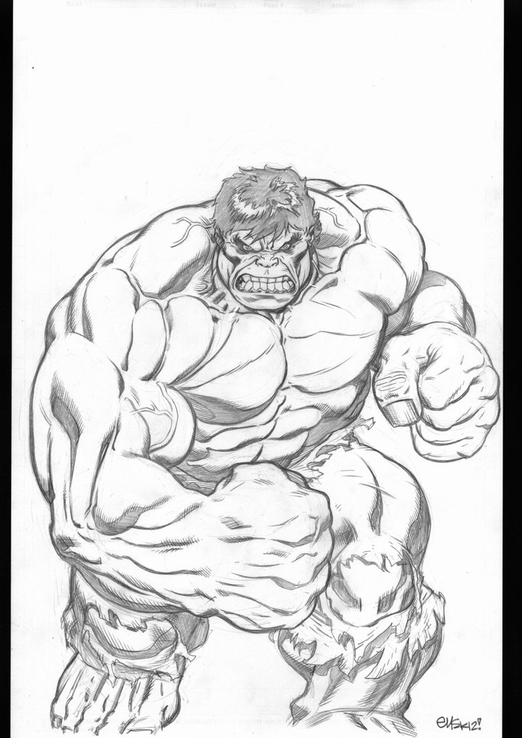 752x1063 Hulk Commission By Edmcguinness