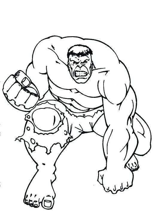 518x713 Hulk Printable Coloring Pages Smash To Snazzy