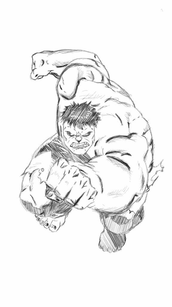 576x1024 Jamal Patterson On Twitter Quick Hulk Sketch.