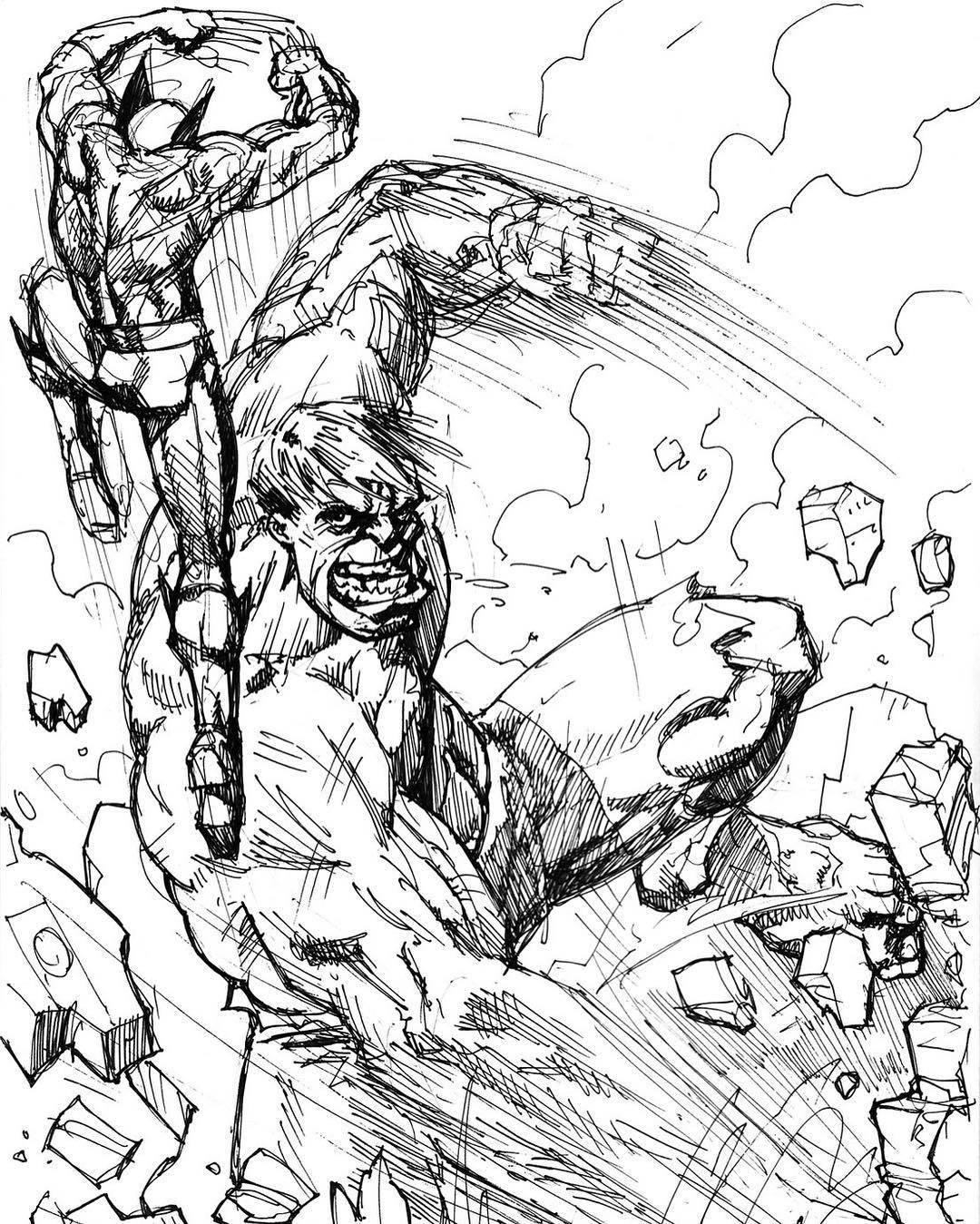 1080x1349 Jordan Kotzebue Hulk Vs Wolvie Quick Sketch.