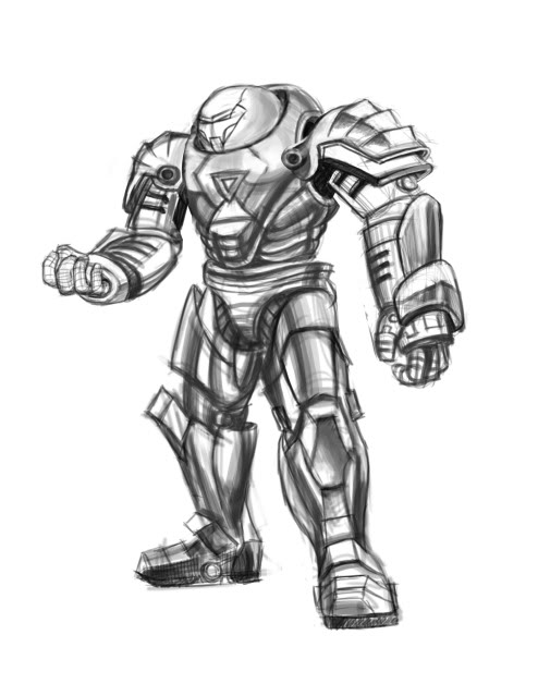 Hulkbuster Drawing