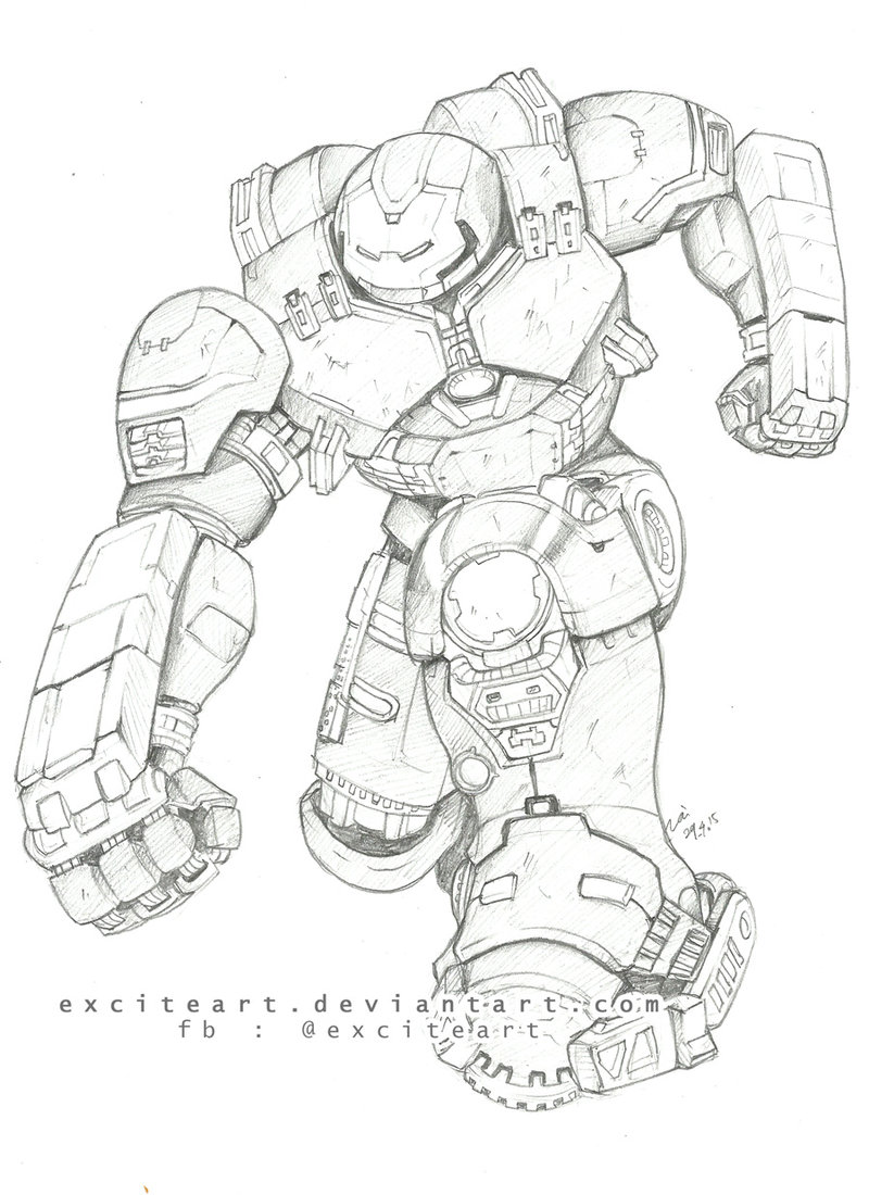 800x1100 Hulkbuster 2 By Exciteart