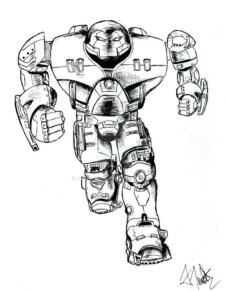 786x1017 Hulkbuster Iron Man By Jtsketches