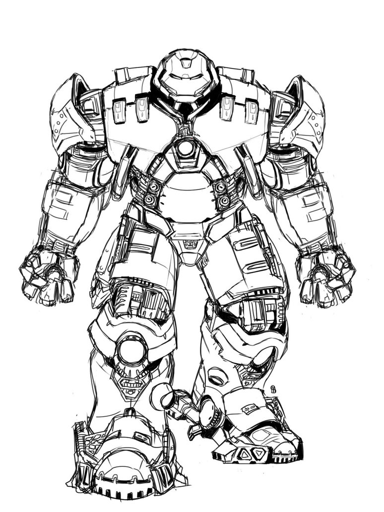 Dorable Hulkbuster Para Colorear Composición - Ideas Para Colorear ...