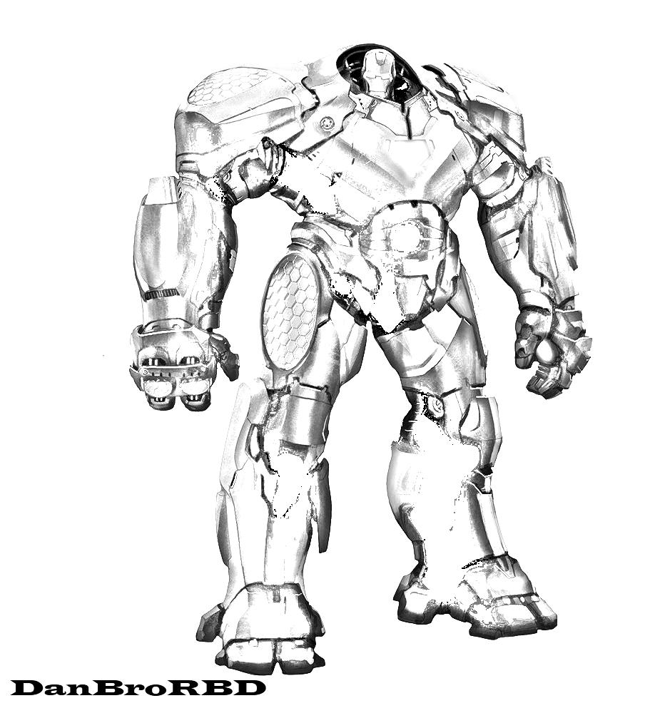 932x1000 Hulkbuster By Danbrorbd
