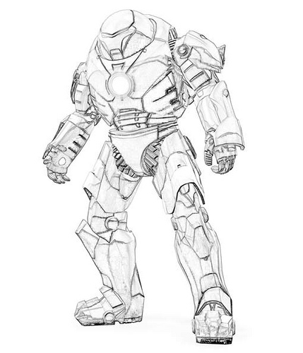 429x500 Iron Man 3 Coloring Pages