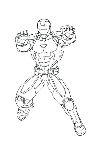 324x500 Coloring Pages ~ Iron Man Coloring Pages Character Superhero