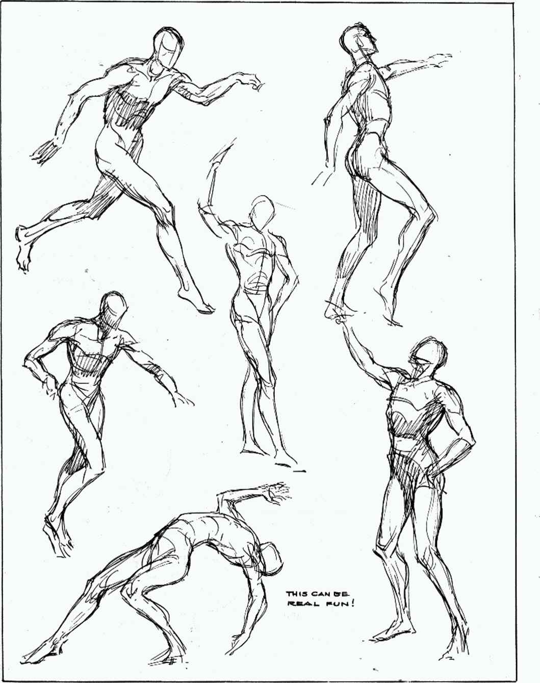 1059x1339 Quick Sketches From The Wooden Mannikin