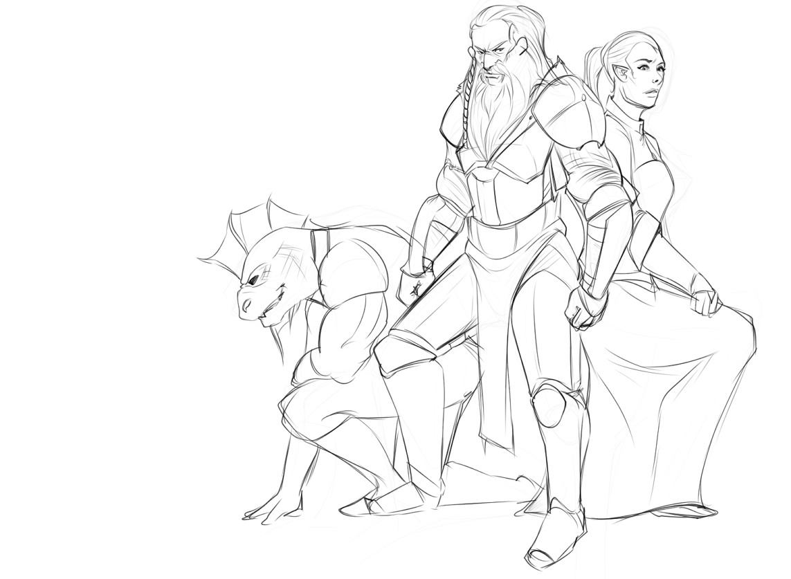 1143x837 Back From Break! With More Drawings! Elder Scrolls Online