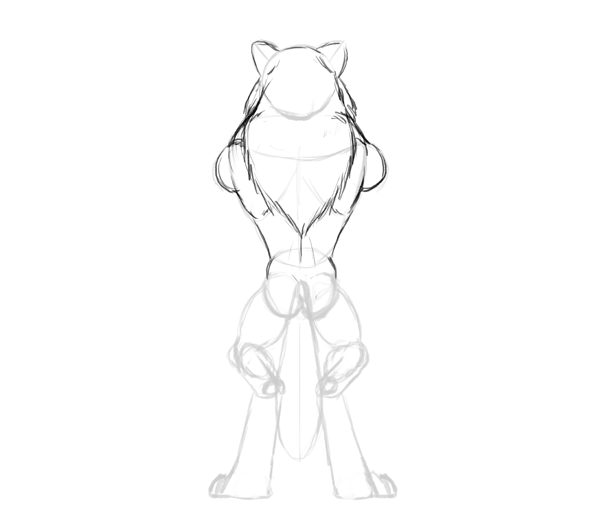 600x531 Design And Draw A Model Sheet Of A Werewolf Warrior