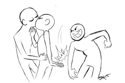 400x267 Draw Squad Back High Five Blank Template 3 People Draw