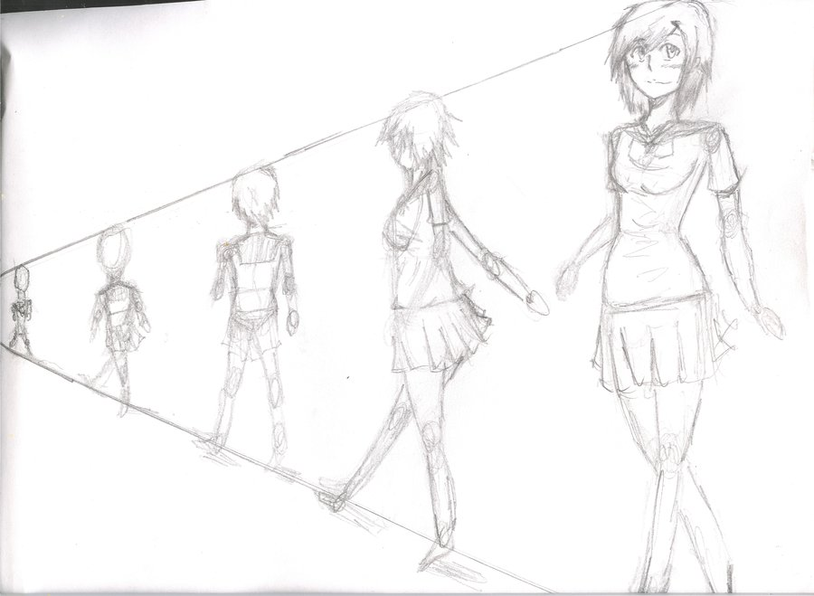 900x659 Draw Anime Females Tutorialbody And Perspective By Yochiro0864