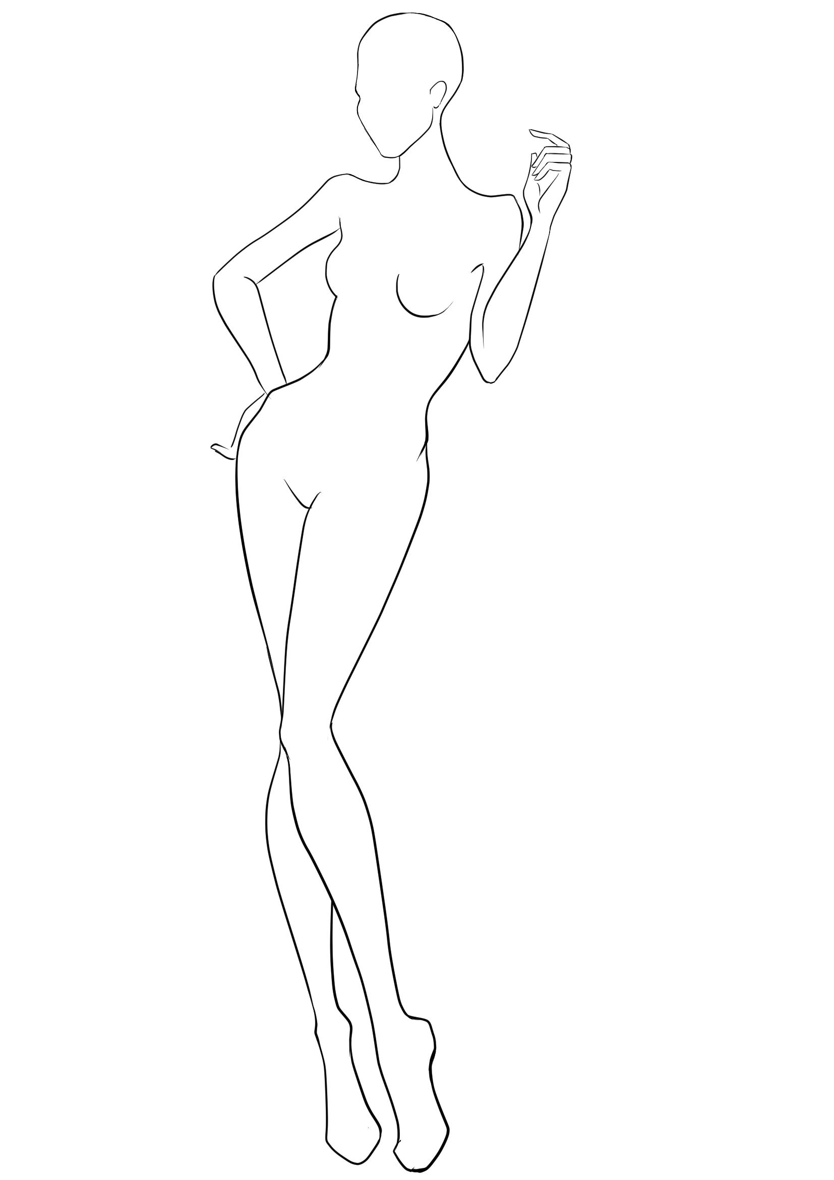 1654x2339 Fashion Template 39 I Draw Fashion
