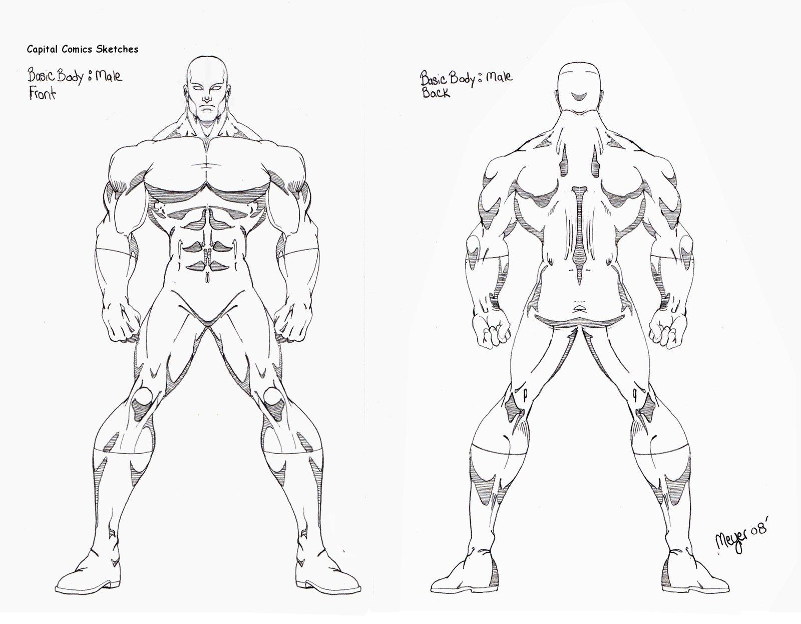 1600x1245 Basic Hero Sketch Male By Skywarp 2