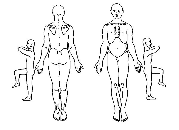 600x438 Human Body Outline Drawing Coloring Pages Coloring Sky