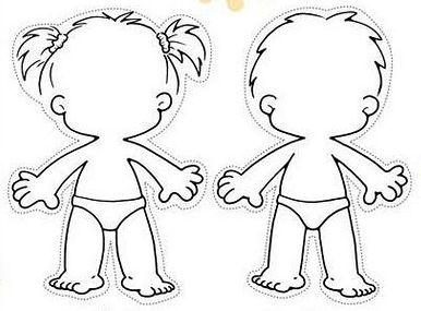 386x285 Kid Body Outline Clipart 53