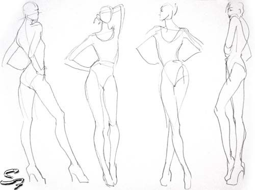 500x373 Drawn Fashion Template