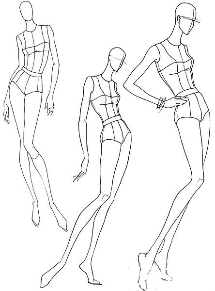 444x600 Pin By Becca Myers On Art Croquis, Body Template