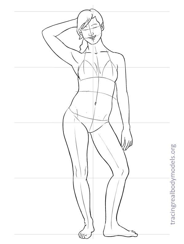 598x792 An Alternative To The Stereotypical Fashion Figure Templates. Real