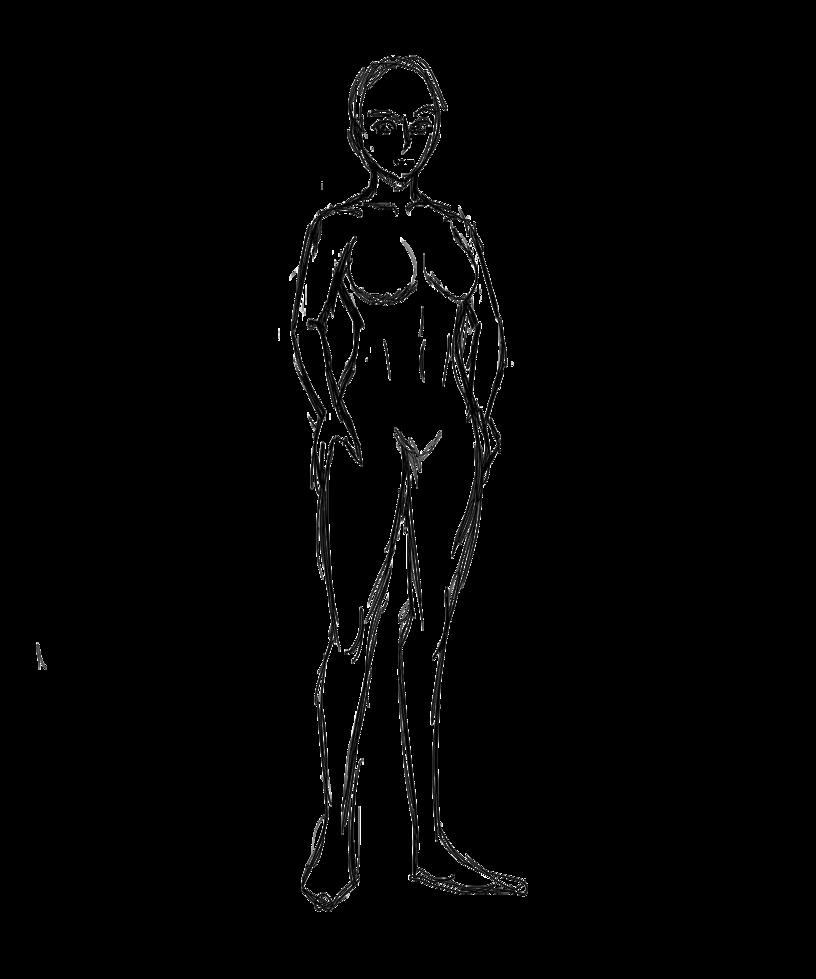 816x979 Female Body Template By Nalini Dahlia