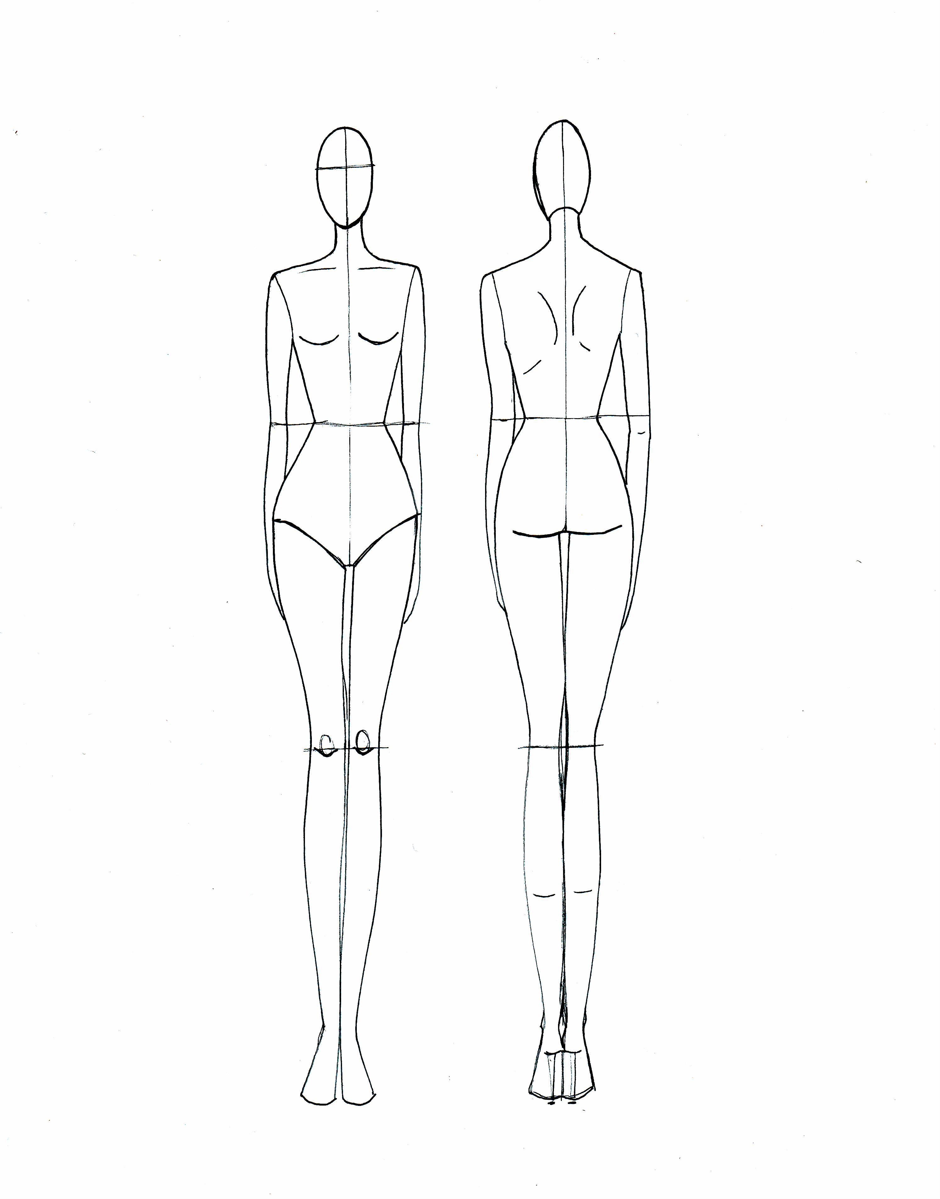 2990x3811 Female Drawing Sketching Templates