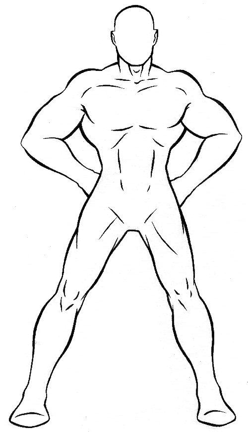 500x871 Superhero Outline Template