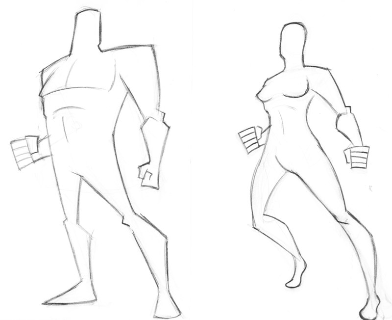 800x652 Blank Superhero Template